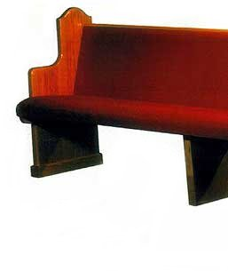 Fully Upholstered Padded Church Pew