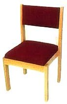 Choir Chair with Rails