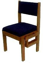 Choir Chair with Side Bookrack