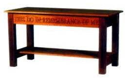Communion Table With Shelf