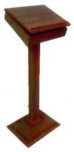 Church Post Lectern with Hinged Top