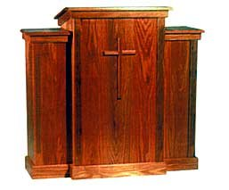 Pulpit with Slanted Top P1010