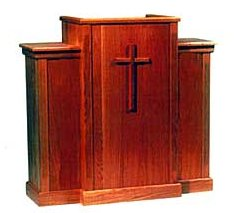 Pulpit with Recessed Top P1050