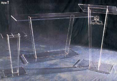 Acrylic Church Pedestal, Table, and Podium