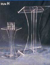 Acrylic Church Pedestal and Podium