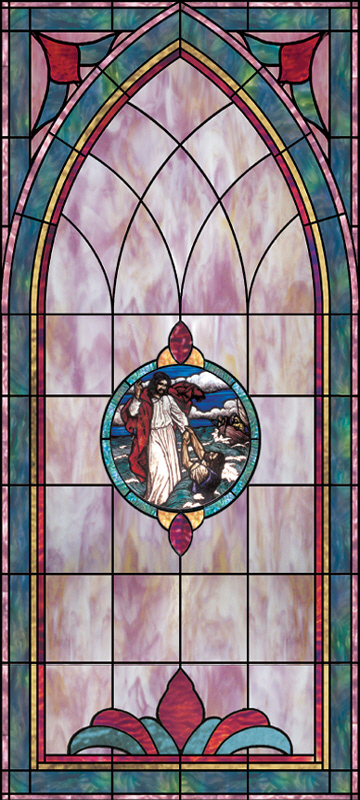 Stained Glass Window Design B 5